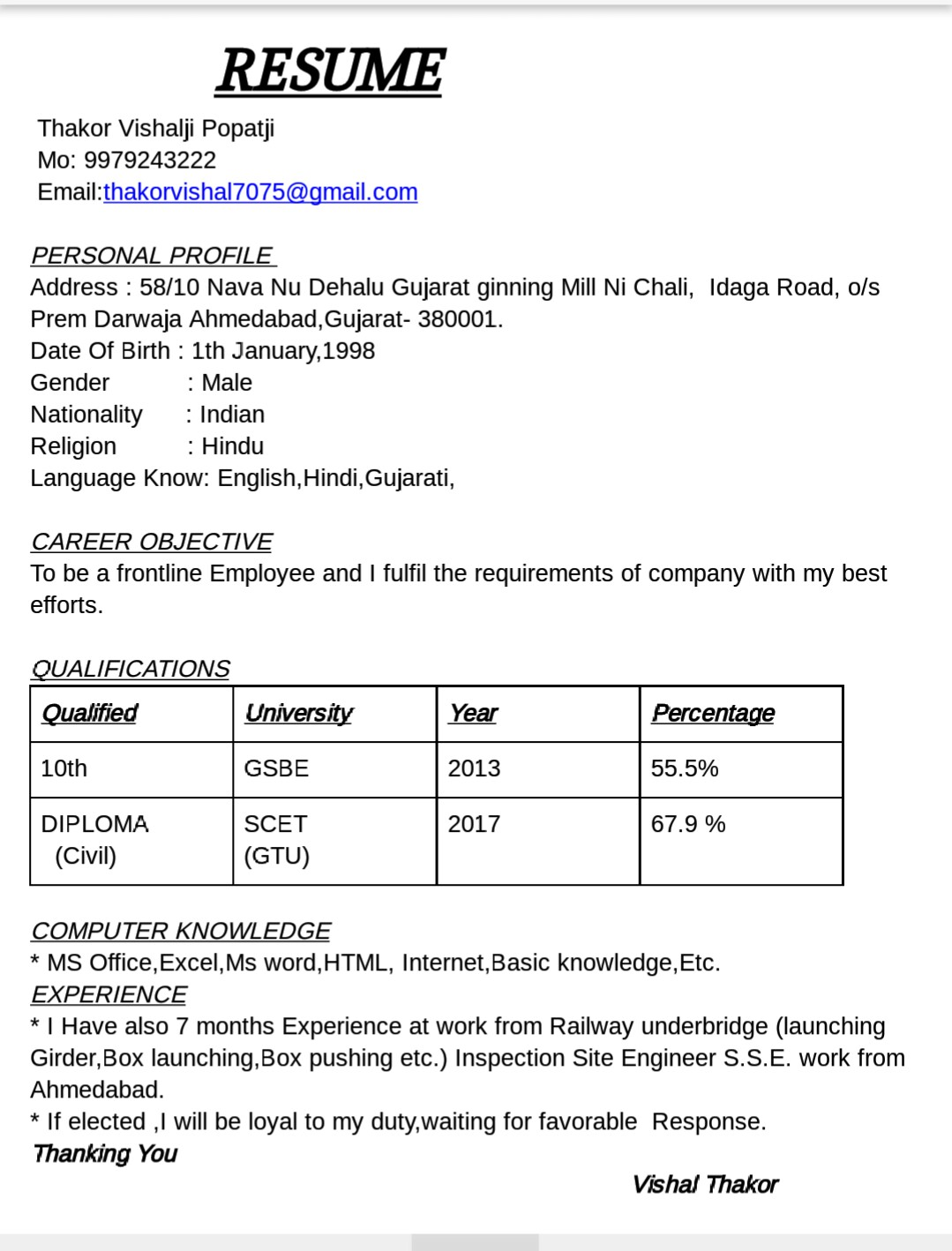 RE: GMR Infrastructuer Hiring Civil Engineers at salary of 15-22.5lacs